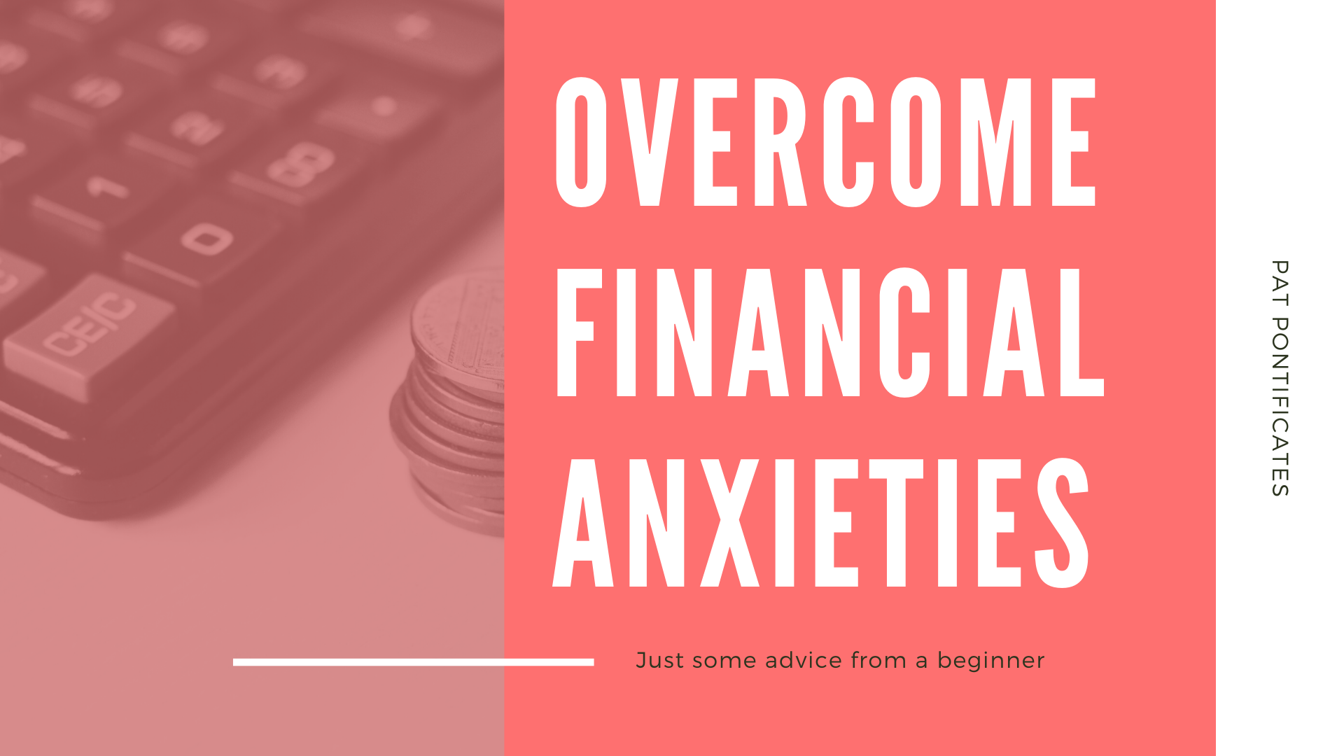 overcome anxiety over finances